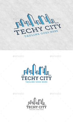 Techy City Logo Template #vector #eps #internet #cityscape • Available here → https://graphicriver.net/item/techy-city-logo-template/11404807?ref=pxcr