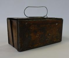 Vintage circa 1880s Miner's collapsible folding lunch box by GARCIAHOUSE on Etsy
