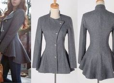 Blazer moulet – DIY – molde, corte e costura – Marlene Mukai Coat Patterns, Clothing Patterns, Dress Patterns, Blazer Pattern, Jacket Pattern, Sewing Clothes, Diy Clothes, Architectural Clothing, Beautiful Casual Dresses