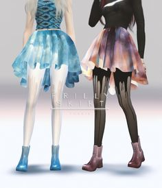 Frilly skirt at Tok Sik via Sims 4 Updates Check more at…