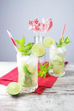 mojito with gin and lemon balm | mojito with gin and lemon grass (vegan | advertisement)