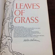Limited edition of Walt Whitman's Leaves of Grass illustrated by Valenti Angelo. Grabhorn Press, Random House, 1930. Special Collections, Stony Brook University Libraries. #nationalpoetrymonth #leavesofgrass #poetry #waltwhitman #specialcollections #stonybrooku #stonybrook #seawolvesread #woodcuts
