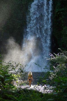 Secret waterfalls hidden on private land in Australia.