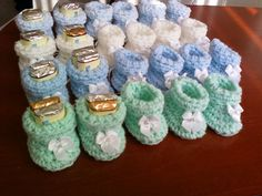 Baby Shower Booty Favors Set of 10 pairs by ROVIsBox on Etsy, $30.00
