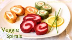 Thermomix is perfect for puréeing vegetables to make festive savoury pancake spirals that are filled with whatever we fancy, perfect for so many occasions. Vegetable Recipes, Vegetarian Recipes, Cooking Recipes, Thermomix Pancakes, Pancake Roll, Vegetable Pancakes, Crepe Recipes, Brunch, Watermelon Recipes