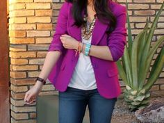 purple blazer (pop of color)