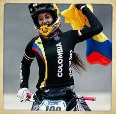 Medalla de Oro Bmx Colombia Mariana pajón