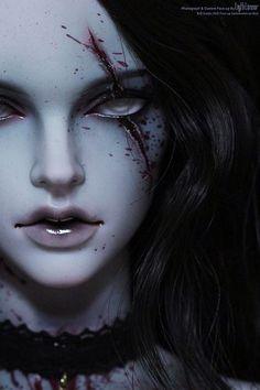 Iplehouse eid Stella(gray skin) custom face up by Light Limner Arte Horror, Horror Art, Dark Fantasy Art, Dark Art, Gothic Dolls, Digital Art Girl, Anime Dolls, Creepy Dolls, Fantasy Inspiration