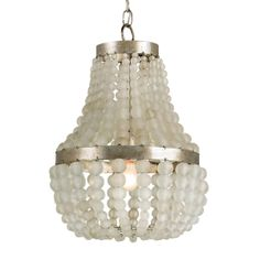 Frosted Glass Beads Embellished Chandelier