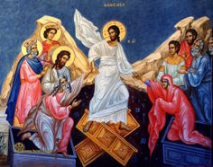 Icon-The Resurrection of Christ Pictures Of Christ, Religious Pictures, Religious Icons, Paintings Of Christ, Story Drawing, Greek Easter, Christ Is Risen, Jesus Resurrection, Byzantine Art