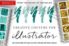 Check out Creative Couture AI: Glitter Styles+ by Jessica Johnson on Creative Market: http://crtv.mk/bwla