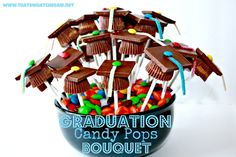 graduation decorations 2013 | Graduation Candy Bouquet Centerpiece Party Decoration Pic #23