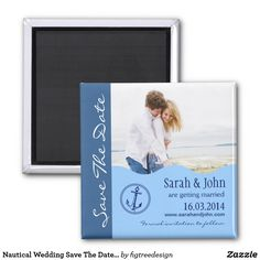 Shop Nautical Wedding Save The Date Magnet created by figtreedesign. Modern Save The Dates, Wedding Save The Dates, Save The Date Magnets, Save The Date Cards, Destination Wedding, Wedding Planning, Wedding Ideas, Nautical Wedding Theme, Light Blue Background