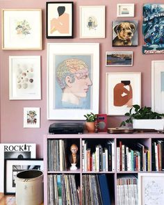 5 Reasons why the colorful gallery wall trend is so popular right now - Daily Dream Decor Inspiration Wand, Interior Inspiration, Farrow Ball, Dream Decor, Home Decor, Create, Colour, Low Shelves, Living Rooms