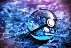 Pokemon Alpha Sapphire| Kyogre pokeball by Link-Auditore.deviantart.com on @DeviantArt