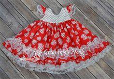 Girls Valentines Dress Infant Valentines Dress Heart Print