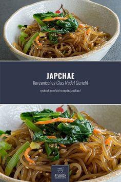 Japchae stir-fried glass noodles- Japchae angebratene Glasnudeln Korean recipes – Japchae – The well-known vegetarian dish from Korean glass noodles :] The recipe I have here for you :] - Stir Fry Glass Noodles, Korean Glass Noodles, Japanese Noodles, Greek Diet, Asian Recipes, Ethnic Recipes, Japanese Recipes, Noodle Recipes, Vegetarian Recipes