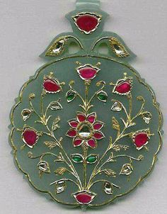 Wedding Jewellery designer, manufacturer, retailer , exporter and valuer. Mughal Jewelry, India Jewelry, Ethnic Jewelry, Antique Jewelry, Jewelry Design Earrings, Gems Jewelry, Pendant Jewelry, Jewelry Crafts, Traditional Indian Jewellery