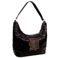 Detroit Tigers MLB Sport Noir Quilted Hobo