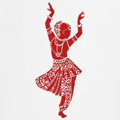 Indian tradition dance pose on T shirt  @  signnfit