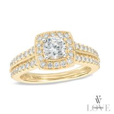 Intricate milgrain edging gives the ring vintage appeal.