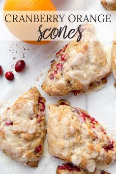 These homemade whole wheat cranberry orange scones are going to be the best thing you put in your mouth all day long. Perfectly balanced flavor and texture will make this your go-to recipe for weekend mornings or a special brunch. #christmas #breakfast #r