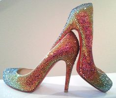 I am noticing a trend in this Fantasy Closet of mine. Sparkly high heels. Want to guess how many exist in my real closet?