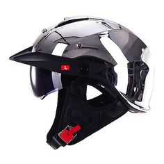 LS2 OF590 HALF FACE HARLEY MOTORCYCLE RETRO HELMET WITH SUNSHIELD – HelmZone.com