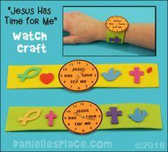 """""""Jesús tiene tiempo para mí"""" reloj de artesanía www.daniellesplace.com Más"""