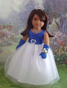 "18/"" Doll Clothes White Lacey Boho Dress fits 18/"" Doll White Dress /& Belt Set"