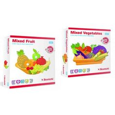 Scotchi Happy Kidz Children's Game Mixed Vegetables & Mixed Fruit Game Set