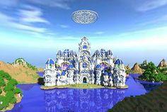 Cathedral of BurningIce Minecraft World Save Minecraft Epic Builds, Amazing Minecraft Houses, Minecraft Castle, Minecraft Games, Minecraft Designs, Minecraft Creations, How To Play Minecraft, Minecraft Stuff, Minecraft Crafts