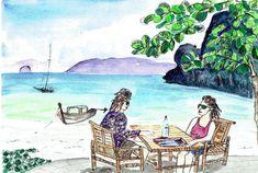 Malaysia Tioman Island 1993 #PieterCronjeArt #Malaysia Tioman Island, Faces, Painting, Art, Art Background, Painting Art, Kunst, The Face, Paintings