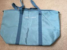 7ac9c00e87a3 Giorgio Armani Parfums Getaway Blue Duffle Bag Weekender Gym Bag  fashion   clothing  shoes