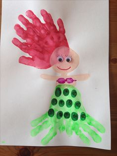 1000 images about handprint art on pinterest footprint for Mermaid arts and crafts