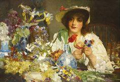 Edgar Bundy (1862-1922) - The Florist