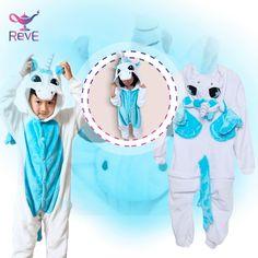 Super Pijama de unicornio azul
