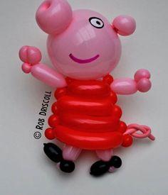 Balloon Peppa Pig sculpture.