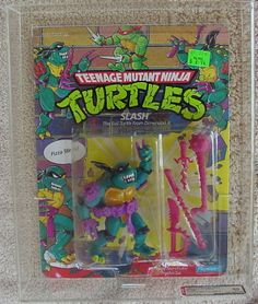 Teenage mutant ninja turtles tmnt  MEGA RARE SLASH  AFA 80 PURPLE BELT **RED* S
