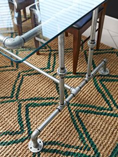 DIY industrial piping table