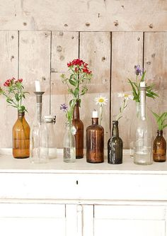 DIY recycled bottles | 5 ways to recycle bottles | brightboldbeautiful.com