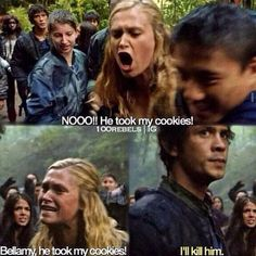 the 100, bellarke, and clarke griffin image