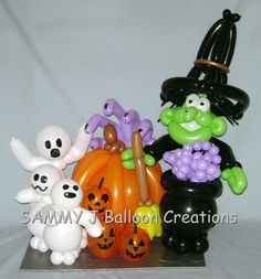 Balloon Halloween characters sure to add a festive touch to any party. www.sammyjballoons.com