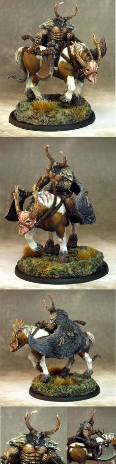 Carrowek of Carn Dhu - War Drune on Drune Horse - Mierce Miniatures