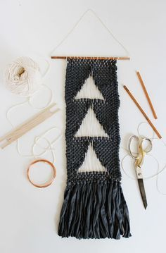 Negative Space Woven Wall Hanging