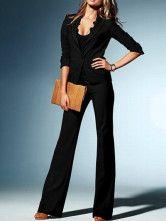 Elegant Black Formal Serge Suit For Woman