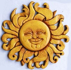 Celestial Sun Face Wall Art