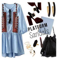 """Platform sandals"" by maria-maldonado ❤ liked on Polyvore featuring Prada, Loeffler Randall, BP., Burt's Bees, Chico's, Jaeger and platforms"