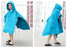 Hooded Towel Poncho