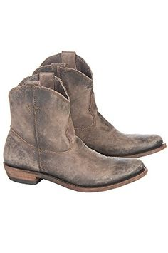 Womens Liberty Black American Short Distressed Leather Cowboy Boots AMERICA CAFE DIST Size 9 ** Want to know more, click on the image.